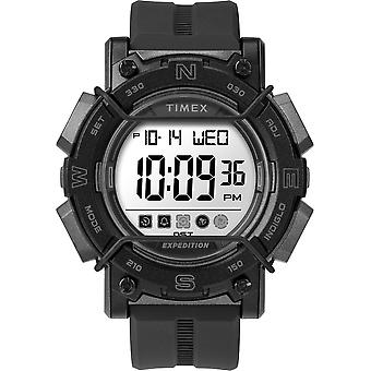 Timex Tw4B18100 Men'S Expedition   Chrono-Alarm-Timer 47Mm Black Resin Strap Watch
