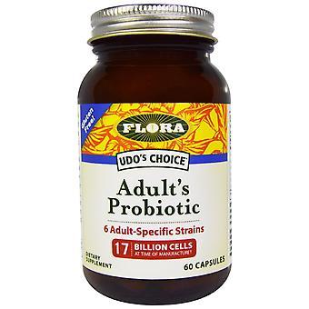 Flora, Udo's Choice, Adult's Probiotic, 17 Billion Cells, 60 Capsules
