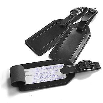 travelite Accessoires Kofferanhänger Leder, Schwarz