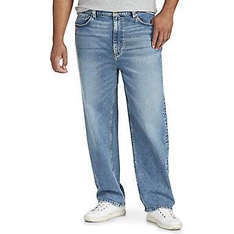 Essentials Pánske & s Big & Vysoký Loose-fit Stretch Jean fit by DXL, svetlo W. .