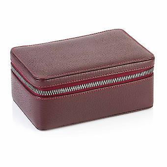 Viininpunainen Richmond nahka suuri trinket box