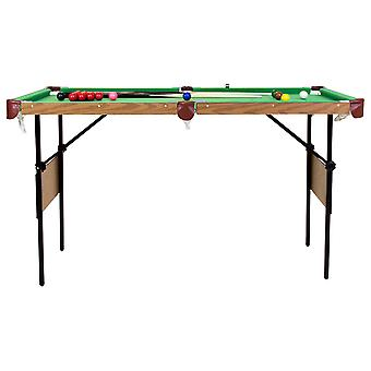 Charles Bentley 4ft 6in Green Pool Games Table Including Balls & 2 Cues