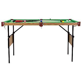 Charles Bentley 4ft 6in Green Pool Games Table inclusief ballen en 2 cues