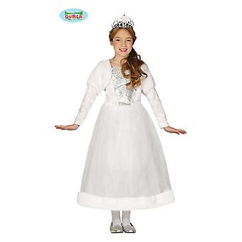 Prinzessinkostüm Kleid Königin Kinderkostüm Mädchen Prinzessin Kostüm weiss