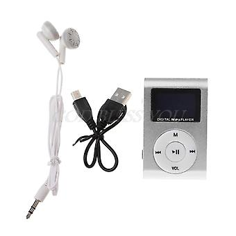 Mini Usb Metal Clip Mp3 Player Lcd Screen -support 32gb Micro Sd Tf Card Slot Digital Mp3 Music Player