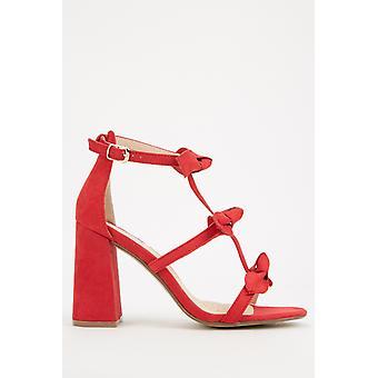 Sandálias de salto dianteiro de arco