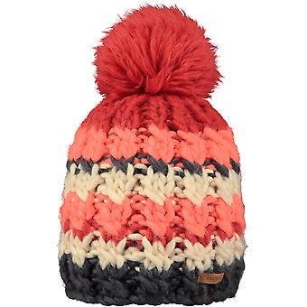 Barts Feather Bobble Hat in Ginger