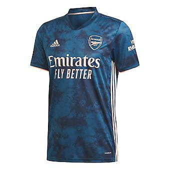 adidas Arsenal 2020/21 Mens Short Sleeve Third Football Jersey Shirt Blue
