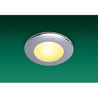 1 lichte badkamer plafond downlight chroom IP64