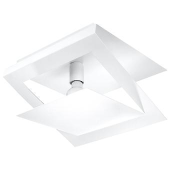 1 Luz decorativa de techo de vaciado blanco, E27