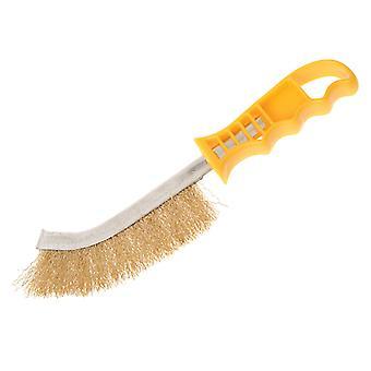 Faithfull Wire Scratch Brush Brass Yellow Handle FAIWBHANDB