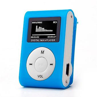 Mini Usb Clip Mp3 Player With Lcd Screen Supports 32gb Micro Sd Tf Card