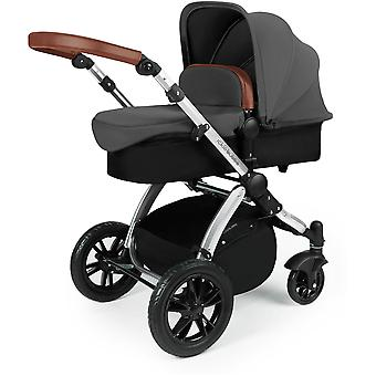Ickle Bubba Stomp v3 All In One Travel System Galaxy & Isofix Base Zilver