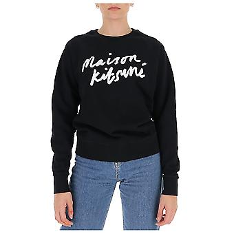 Maison Kitsuné Fw00335km0001bk Women's Zwart Katoen Sweatshirt