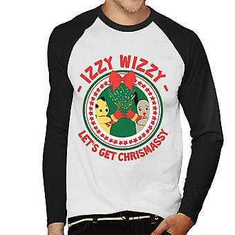 Noki Joulu Lets Get Chrismassy Men's Baseball Pitkähihainen T-paita