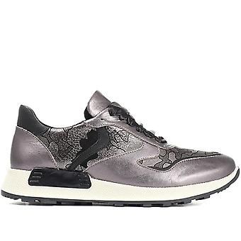 Jones Bootmaker Womens Lace-Up Leather Trainer