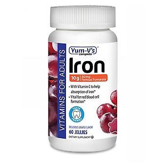 Dulce Probiotics Iron with Vitamin C, Grape 60 Count