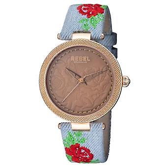 Rebel Women-apos;s RB112-8191 Carroll Gardens Montre-bracelet en matériaux multicolores