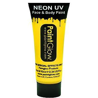 PaintGlow Neon Uv kasvo- ja vartalomaali - keltainen 13ml (aa1a01)