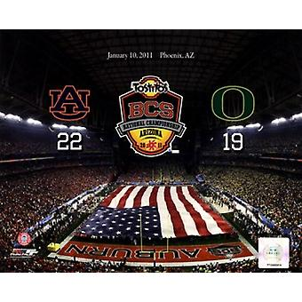 University of Phoenix Stadium 2011 Tostitos Bowl BCS National Championship Game Auburn Tigers Vs Oregon Ducks with Overlay Sports Photo (10 x 8)
