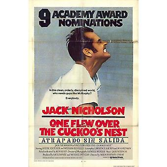 One Flew Over the Cuckoos Nest Movie Poster (11 x 17)