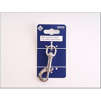 Chain Snap Hook + Swivel 1/2in Nickel Plated 39-006