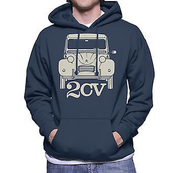 Citro?n 2CV til mørke mænds hætteklædte sweatshirt