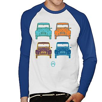 Citro?n 2CV Pop Art Style Men's Baseball Long Sleeved T-Shirt
