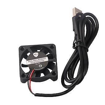 5V DC könnyű négyzet alakú műanyag hűtő ventilátor csendes verzió rész fekete
