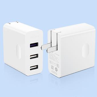 Original Huawei 4.5V/5A Quick Charging 3 USB Ports Power Adapter Travel Charger, For iPad, iPhone, Galaxy, Huawei, Xiaomi, LG, HTC, Macbook and More(W