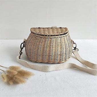 Small Big Back Basket Bicycle Basket / Handmade Tattan Bag Basket Kid's