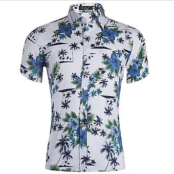 Tencel Cotton Shirt Hawaiian Men's Printed Shirt
