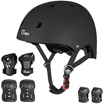 JBM Skateboard Protective Gear Set for Boys & Girls - Skating Helmet