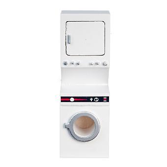 Puppen Haus gestapelt Waschmaschine & Trockner weiß Waschmaschine Trockner Küchenmöbel