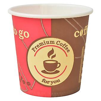 vidaXL 1000 kpl kertakäyttöinen kahvimuki pahvi 120 ml