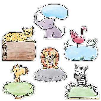 "Safari Friends 6"" Designer Cut-Outs, 36/Pack"