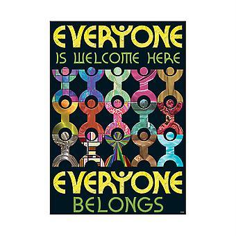 """Jeder ist hier willkommen... Argus Poster, 13.375"""" X 19"""""""