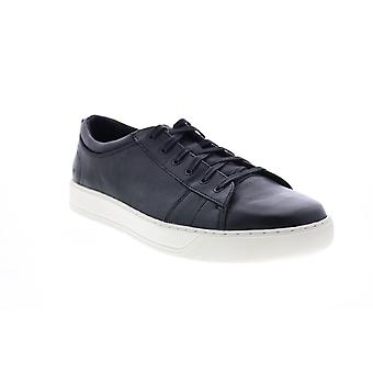 Andrew Marc Darwood  Mens Black Leather Lifestyle Sneakers Shoes