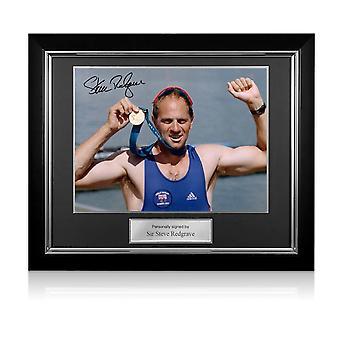 ستيف ريدغريف وقعت دورة الالعاب الاولمبية التجديف الصورة : سيدني الميدالية الذهبية. إطار ديلوكس