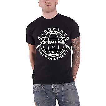 Metallica T camisa Hardwired à dominação de autodestruição oficial nova Mens Black