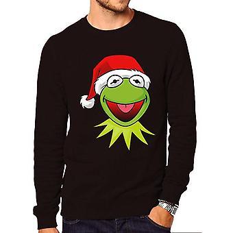 The Muppets Unisex Adult Santa Kermit Christmas Sweatshirt