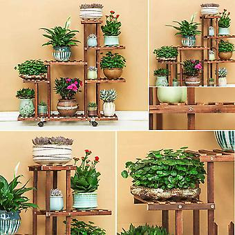 5 Tiers Wooden Flower Rack Plant Stand Multi Flower Stand Shelves Bonsai