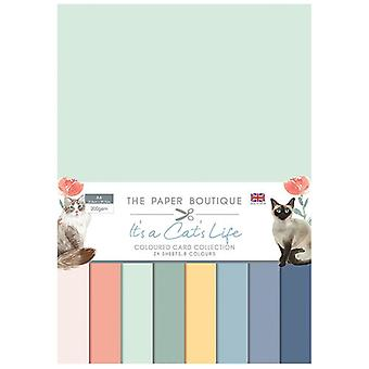The Paper Boutique - It's a Cats Life Collection - A4 Colour Card Collection