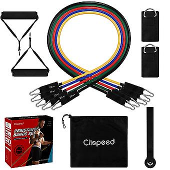 11 Pieces Resistance Workout Bands Set For Exercise Gym Yoga Crossfit