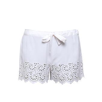 Cyberjammies Leah 4838 Dames's Wit Geborduurde Pyjama Short