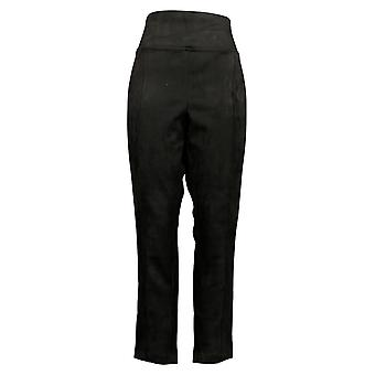 Andrew Marc Women's Pants High Rise Pull On Mesh Panel Waistband Black