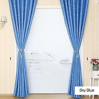 Thermal insulated grommets blackout curtains, star