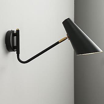 الصناعية للتعديل مع مفتاح مصباح الجدار الإبداعية قراءة السرير خمر الرجعية أدى e27 أضواء الجدار fexible الذهب الأسود