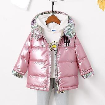 Uusi muoti'talvitakki, ja lämmin luonnollinen ankka hupullinen takki