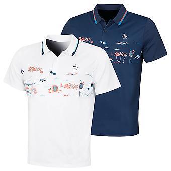 Original Penguin Mens 2021 Pete Took The Day Off Stretch Golf Polo Shirt